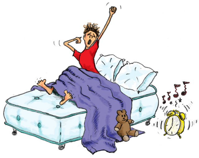Day in bed clipart.