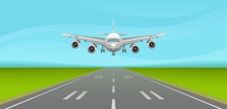 Airplane landing clip art.