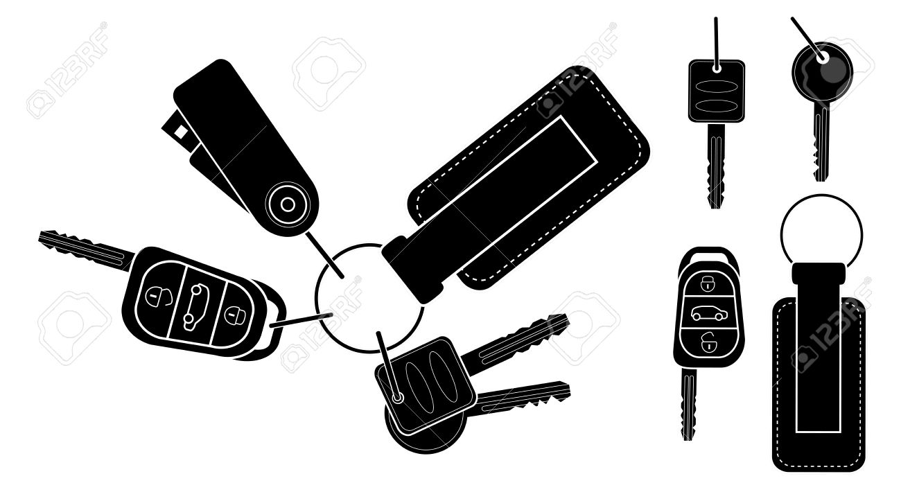 Remote Car Starter Clip Art.