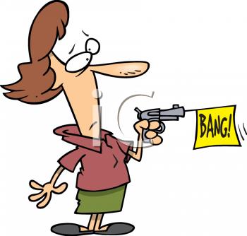Bang Gun Clipart.