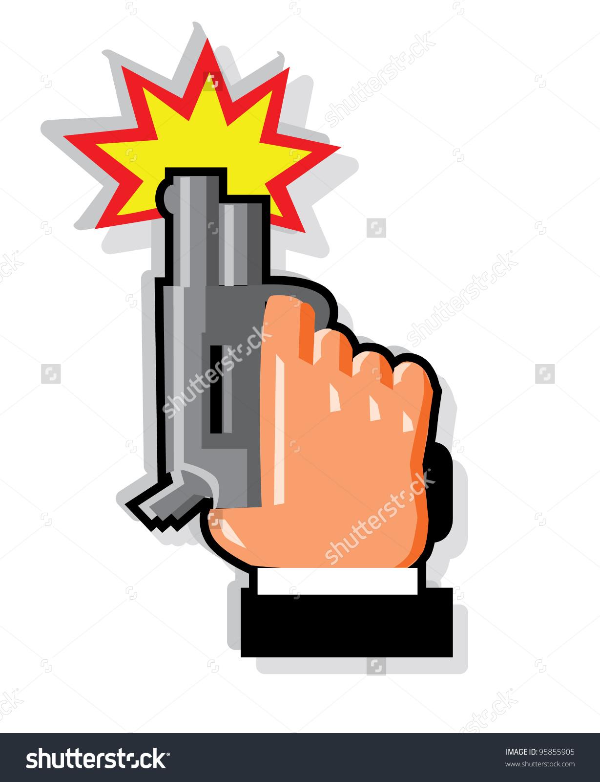 Starter Pistol Icon Stock Illustration 95855905.