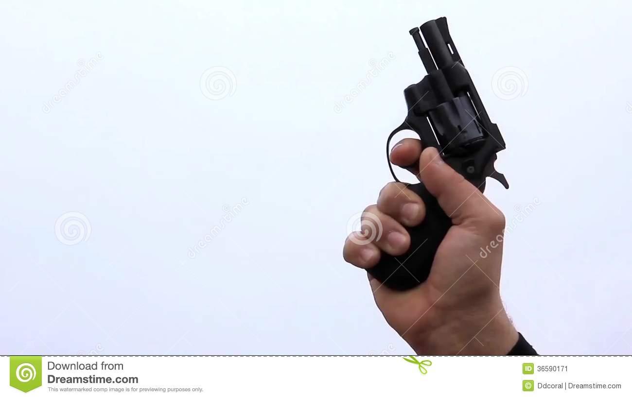 Starting Pistol Shot Stock Video Footage.