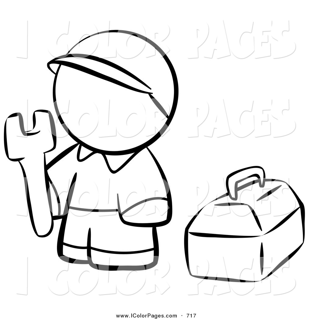 To work clipart in black and white.