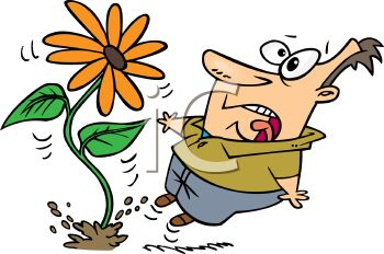Royalty Free Clip Art Image: Cartoon of a Man Startled by a.