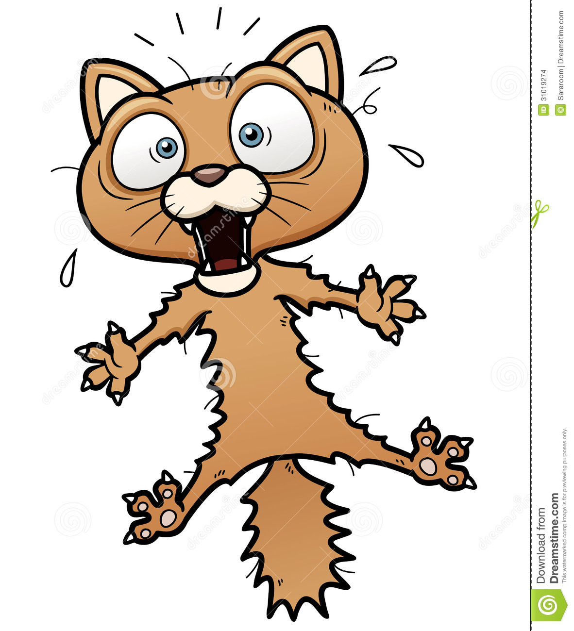 Cats Being Scared Clipart.