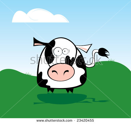 Surprised Cow Stock Photos, Royalty.