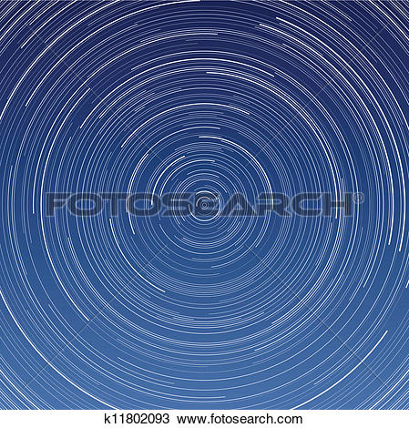 Clipart of Star Trails k11802093.