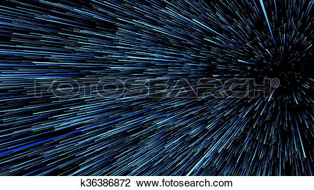 Clip Art of 3D illustration of star trails at universe k36386872.