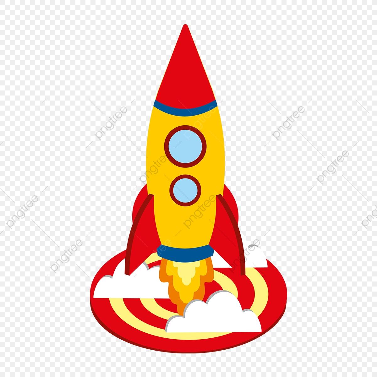 Startup Rocket Launch Illustration, Startup, Business.