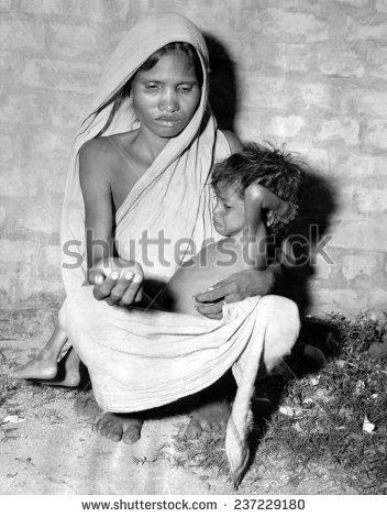 Starving Children Stock Photos, Royalty.