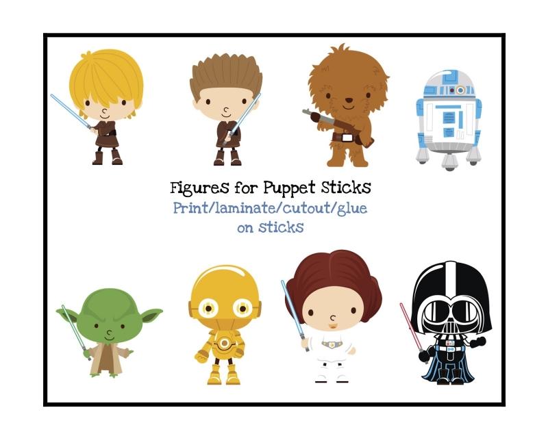 Free Star Wars Cartoon Character Printable #free.