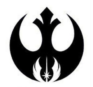 Details about Rebel Alliance & Jedi Order Vinyl Decal Sticker Star Wars  Symbol USA Seller.