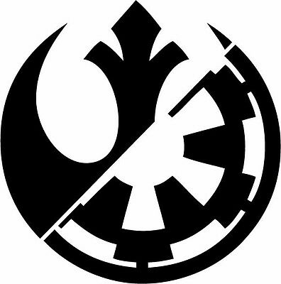 REBEL ALLIANCE GALACTIC Empire vinyl decal Star Wars Rebels.