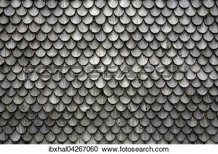 Stock Photography of Alte Holzschindeln an einem Bauernhaus.