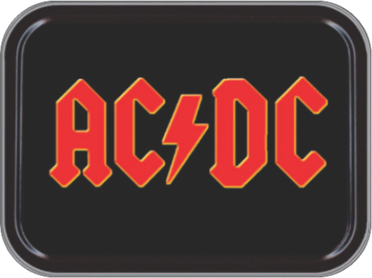 AC/DC Logo Stash Tin Storage Container 4.37\