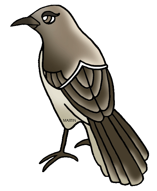 Free United States Clip Art by Phillip Martin, State Bird of.