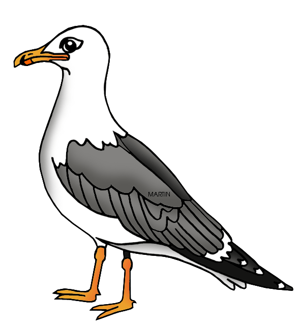 Free United States Clip Art by Phillip Martin, Utah State Bird.