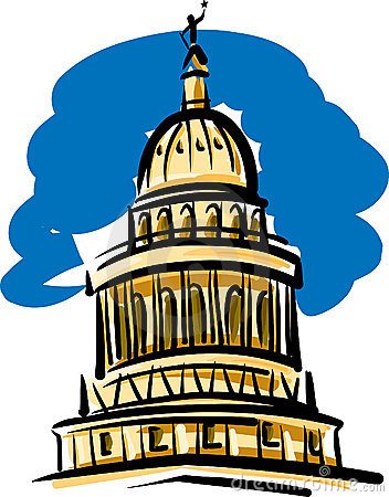 Texas State Capitol Clipart.
