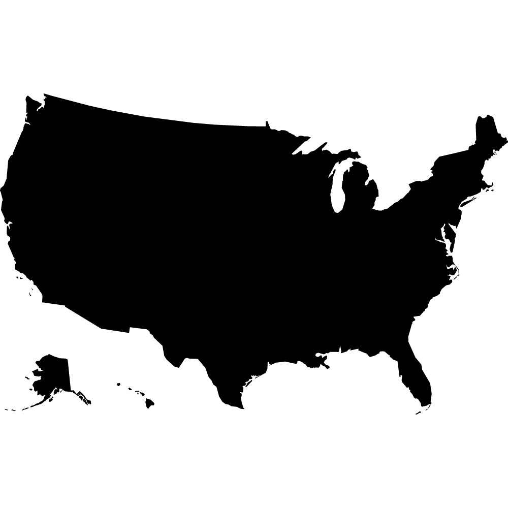 united states clipart black and white #8