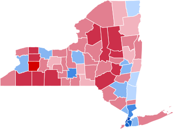 United States presidential election in New York, 2016.
