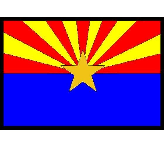 State flag of arizona clipart.