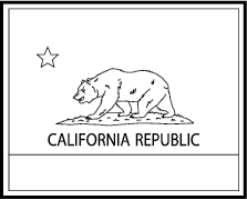 California State Flag Clipart.