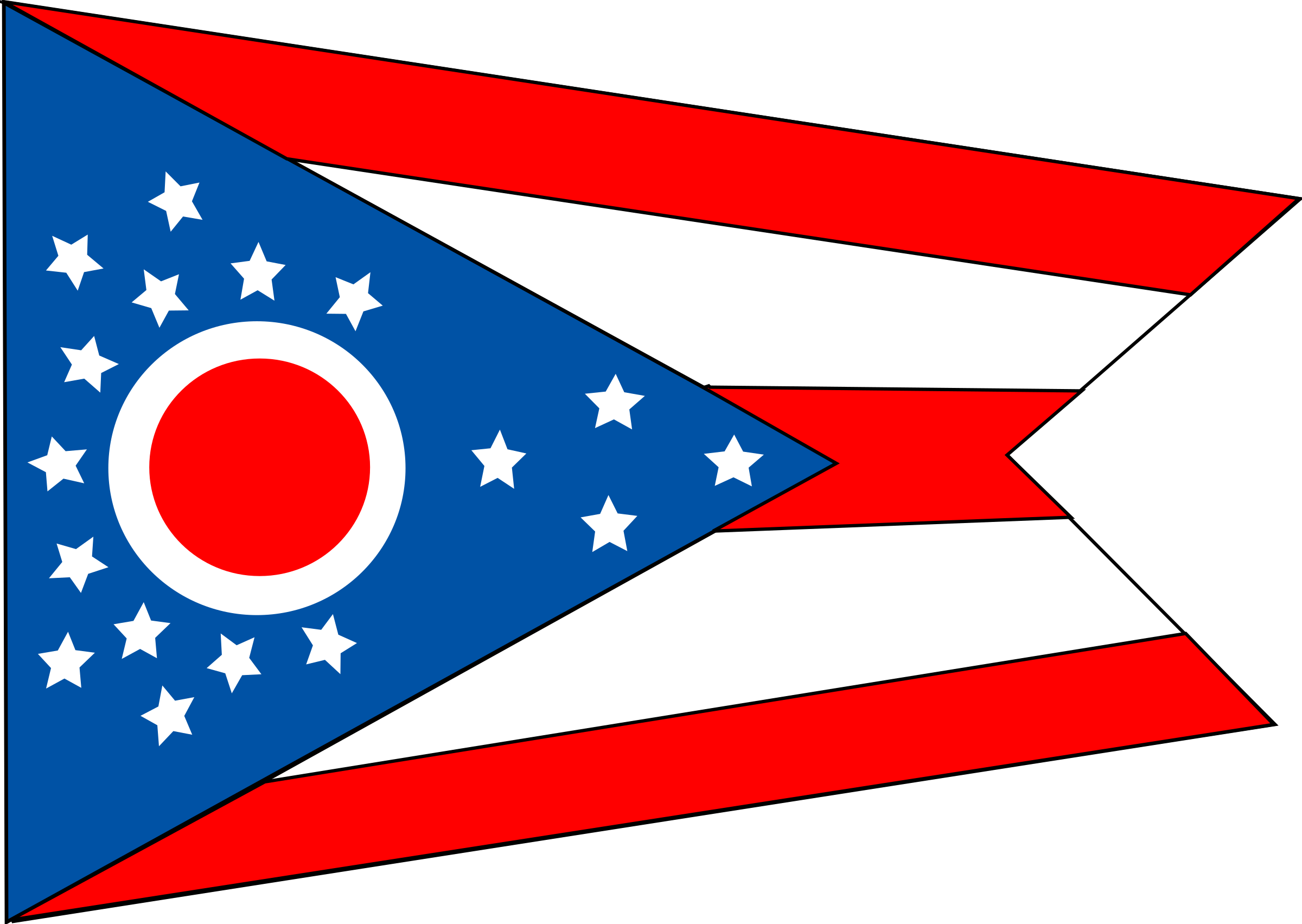 Waving kentucky state flag clipart.