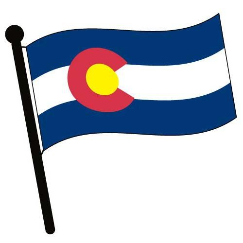 Colorado Waving Flag Clip Art.
