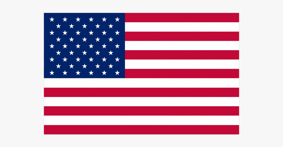 Map Of The Usa Flag Clipart Transparent.