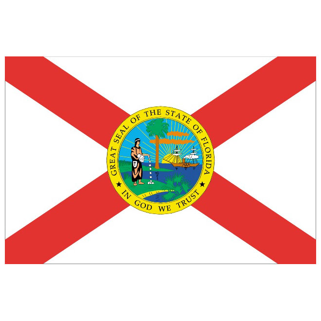 Florida vector flag.