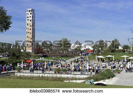 """Stock Photo of """"Himmelssturmer lookout tower, Landesgartenschau."""