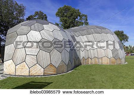 "Stock Photograph of ""Forest Pavilion, Landesgartenschau, State."
