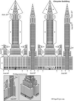 Empire State Building Paper Model.