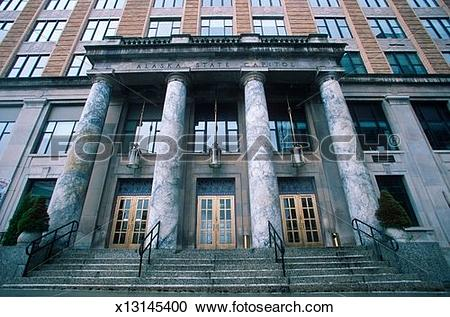 Stock Photography of 'State Capitol of Alaska, Juneau' x13145400.