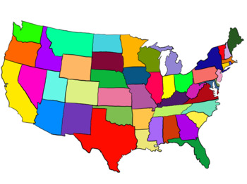 Well Defined Clip Art States Map Of Western Us And Mexico Us.
