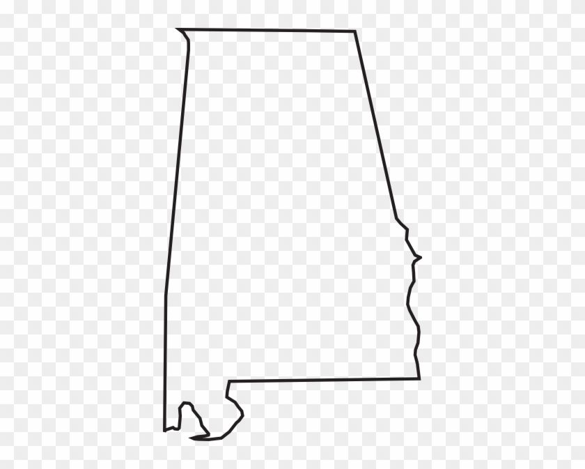Outlined Black and White Alabama Logo.