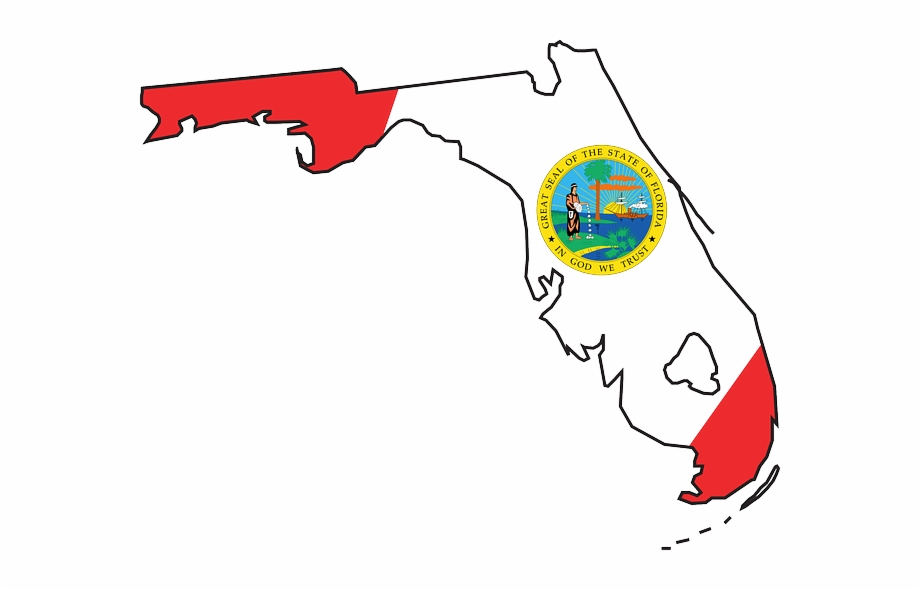State Of Florida Outline Clip Art.