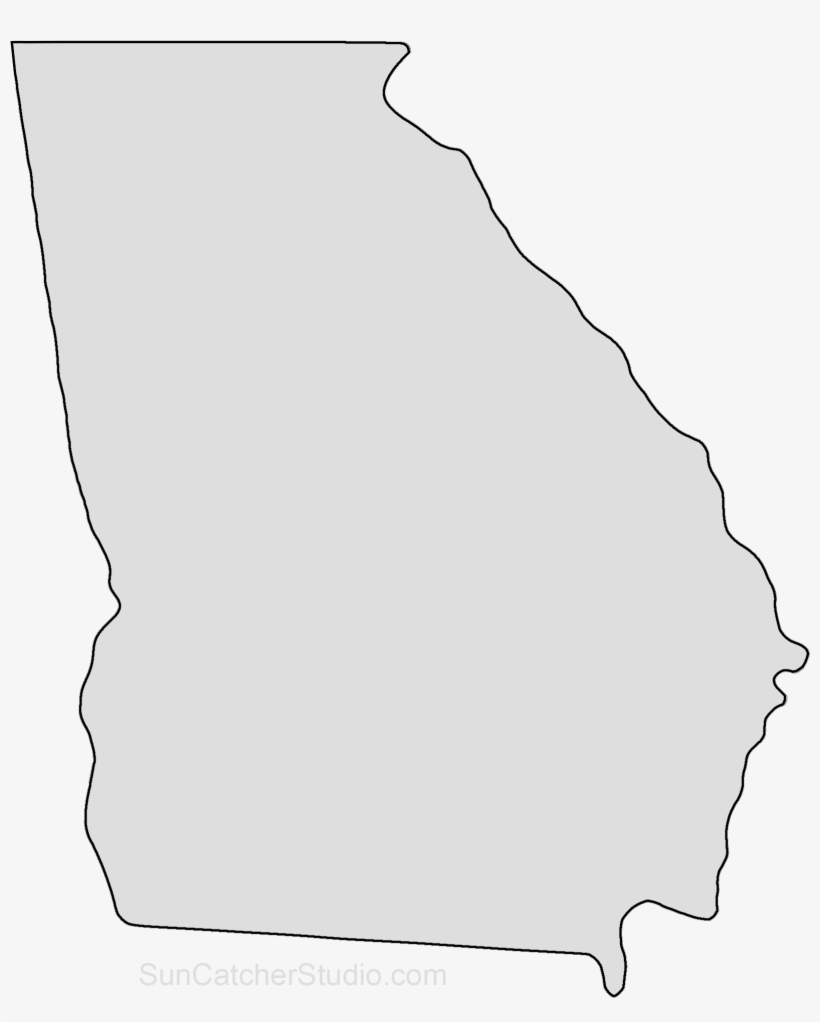 Georgia Map Outline Png Shape State Sten #433878.