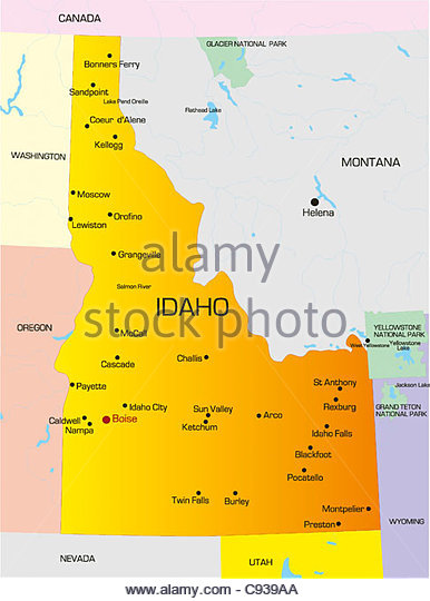 Idaho Outline Vector Stock Photos & Idaho Outline Vector Stock.