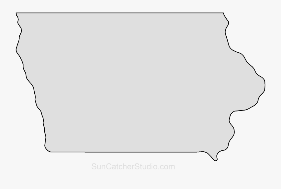 Clip Art Iowa State Map Outline , Free Transparent Clipart.