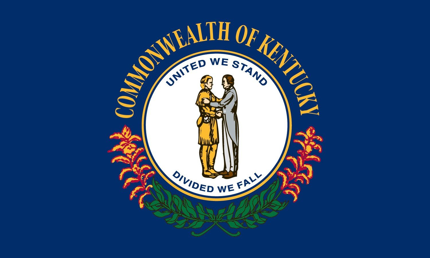 state of kentucky flag clipart