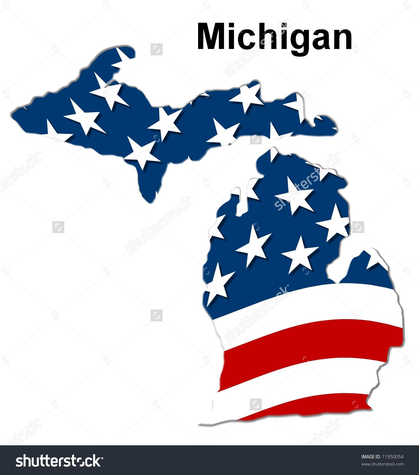 Similiar Michigan Flag Map Keywords.
