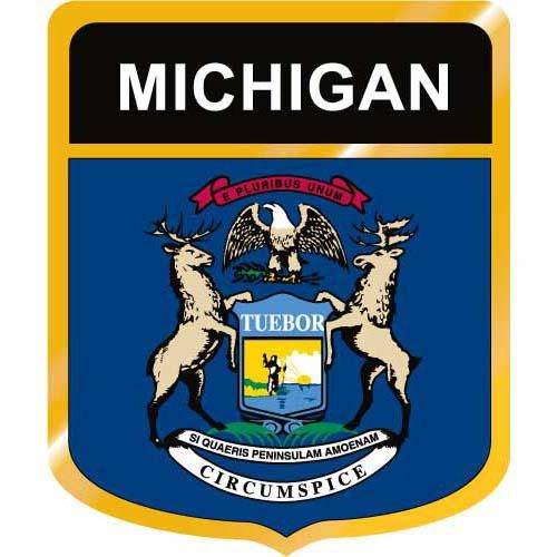 State Of Michigan Flag Clipart.