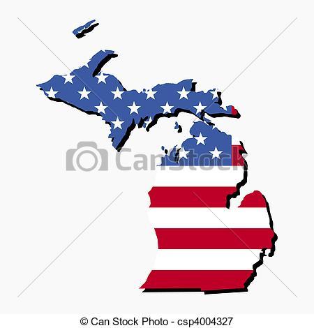 State Of Michigan Logo Clip Art.