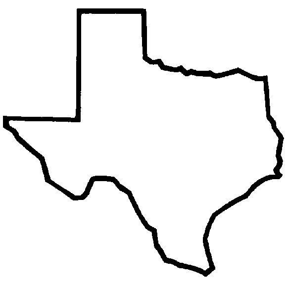 Texas outline silhouette.