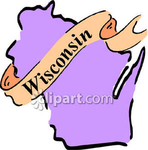 Wisconsin State Clip Art.
