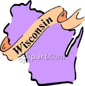 Wisconsin State Clip Art.