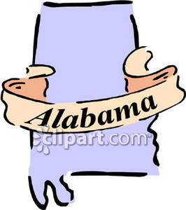 State of alabama clip art.
