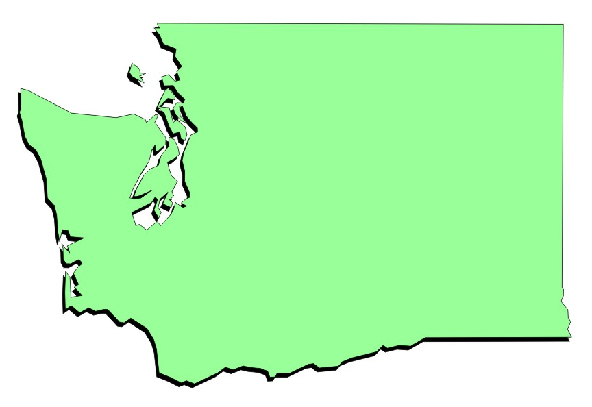 Washington Map Clipart.