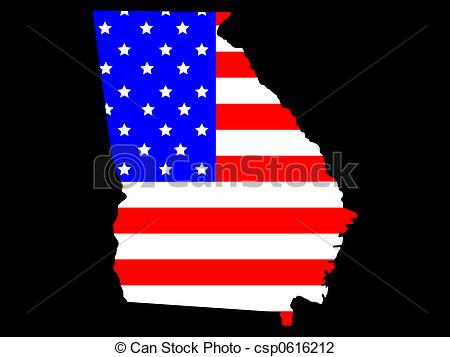 Clip Art of State of Georgia.